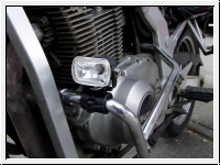 Engine guard bracket with foglamps angular and MotoBozzo-Switch